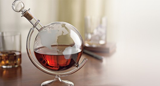 etched decanter